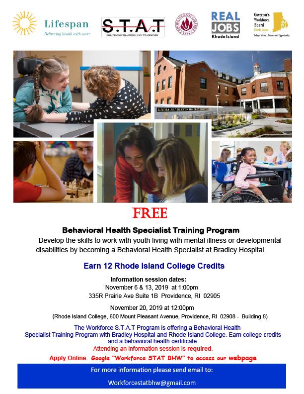 BEHAVIORAL HEALTH SPECIALIST TRAINING PROGRAM